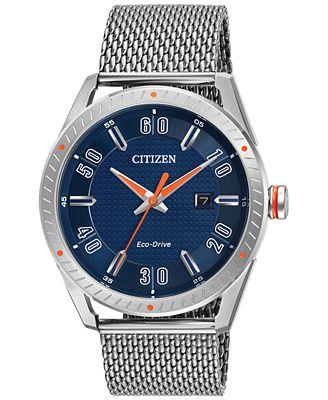 Citizen Drive from Citizen Eco-Drive Men's Stainless Steel Mesh Bracelet Watch 42mm BM6990-55L