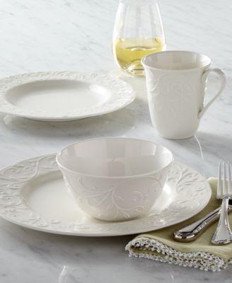 Lenox Dinnerware Opal Innocence Carved Collection & Lenox White Dinnerware \u0026 Dishes - Macy\u0027s