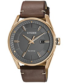 Drive from Citizen Eco-Drive Men's Brown Leather Strap Watch 42mm BM6983-00H