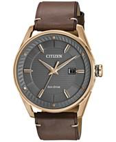 2ec61ec541e Citizen Drive from Citizen Eco-Drive Men s Brown Leather Strap Watch 42mm  BM6983-00H