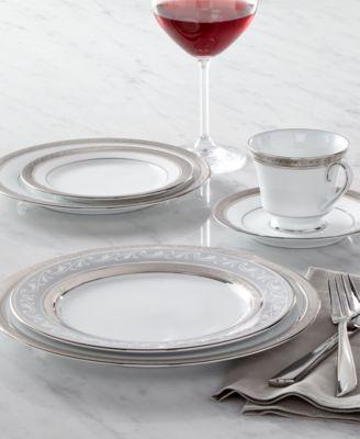 Noritake Dinnerware Crestwood Platinum Collection & Noritake Dinnerware Crestwood Platinum Collection - Fine China - Macy\u0027s