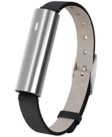 Misfit Unisex Ray Black Leather Band Activity Tracker 12x38mm MIS1003