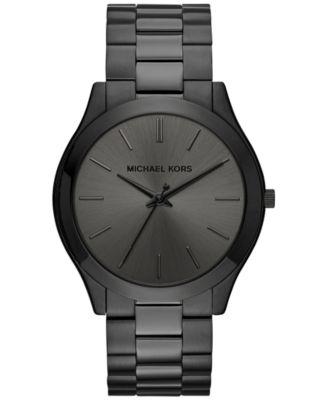 Unisex Slim Runway Gold-Tone Stainless Steel Bracelet Watch 42mm MK3179