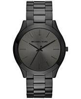 9cee5381c5b6 Michael Kors Unisex Slim Runway Black Ion-Plated Stainless Steel Bracelet  Watch 44mm MK8507