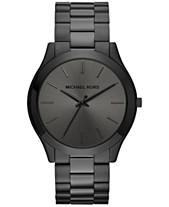 Michael Kors Unisex Slim Runway Black Ion Plated Stainless Steel Bracelet Watch 44mm MK8507