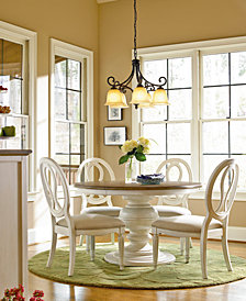 Sag Harbor Round Dining Furniture, 5-Pc. Set (Expandable Round Dining Pedestal Table & 4 Side Chairs)