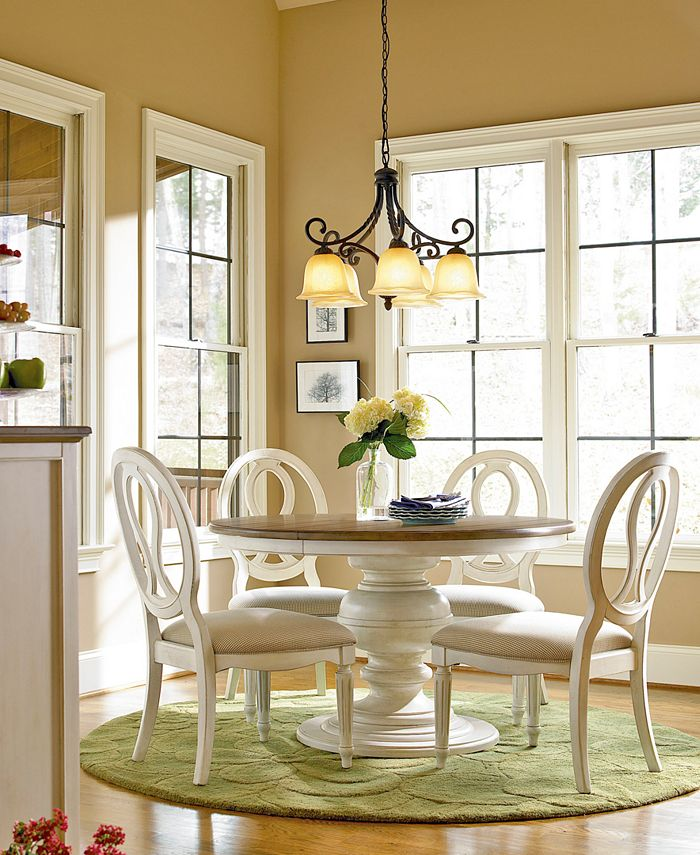 Furniture Sag Harbor Round Dining, Round Dining Table Set For 5 Chairs