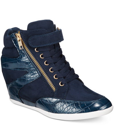 Thalia Sodi Azar High-Top Wedge Sneakers, Only at Macy's - Sneakers - Shoes - Macy's