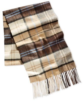 club room s khaki plaid scarf only at macy s