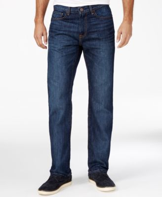 Image of Tommy Hilfiger Men's Relaxed-Fit Dark Blue Wash Jeans