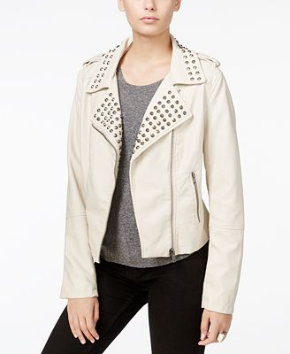 Fair Child Studded Faux-Leather Moto Jacket