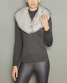 The Fur Vault Fox Fur Shawl Collar