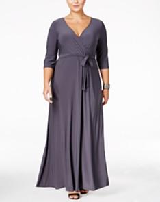 Gray Plus Size Dresses - Macy\'s