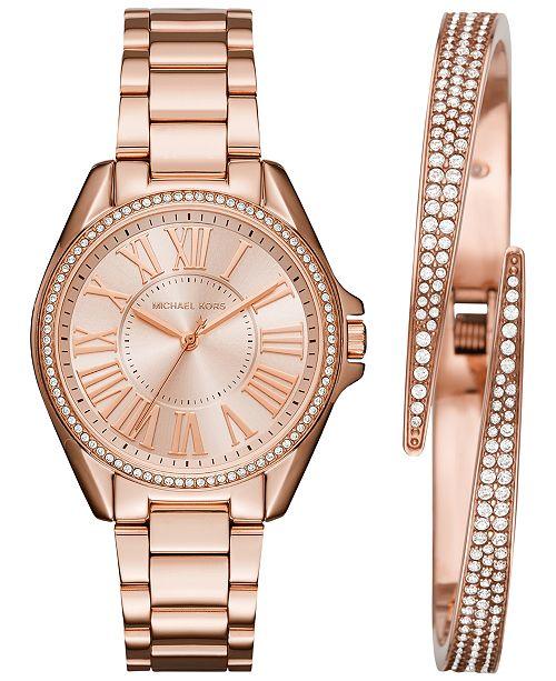 dab327879ff2 ... Michael Kors Women s Kacie Stainless Steel Bracelet Watch   Bracelet  Box Set 39mm MK3569 MK3568 ...
