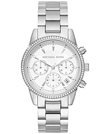 Women's Chronograph Ritz Stainless Steel Bracelet Watch 37mm MK6428/MK6357/MK6356