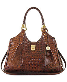 Brahmin Elisa Melbourne Embossed Leather Hobo