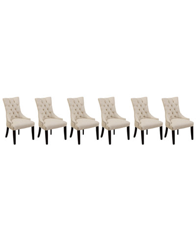 Marais Dining Parsons Chairs Set Of 6 Furniture Macy S