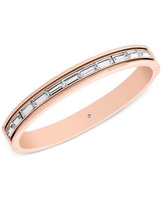 Michael Kors Baguette Crystal Bangle Bracelet, Created for Macy's