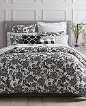 CLOSEOUT! Charter Club Damask Designs Black Floral Bedding Collection, Created for Macy's