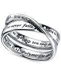 "Unwritten ""Love Is Patient"" Ring in Sterling Silver"