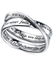 """Unwritten """"Love Is Patient"""" Ring in Sterling Silver"""