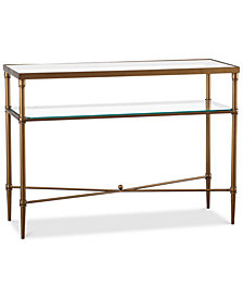 Fadden Glass Console Table, Quick Ship
