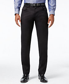 I.N.C. Men's Deep Black Stretch Pants, Created for Macy's