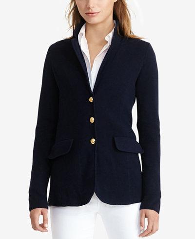 lauren ralph lauren sweater blazer women macy 39 s. Black Bedroom Furniture Sets. Home Design Ideas
