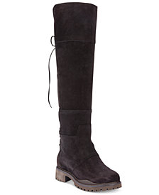 Nine West Mavira Back Lace-Up Over-The-Knee Boots