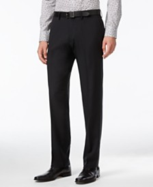CLOSEOUT! Kenneth Cole Reaction Straight-Fit Stretch Gabardine Solid Dress Pants