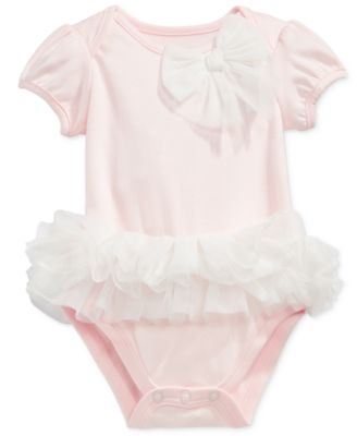Baby Girls Tulle Tutu Bodysuit, Created for Macy's