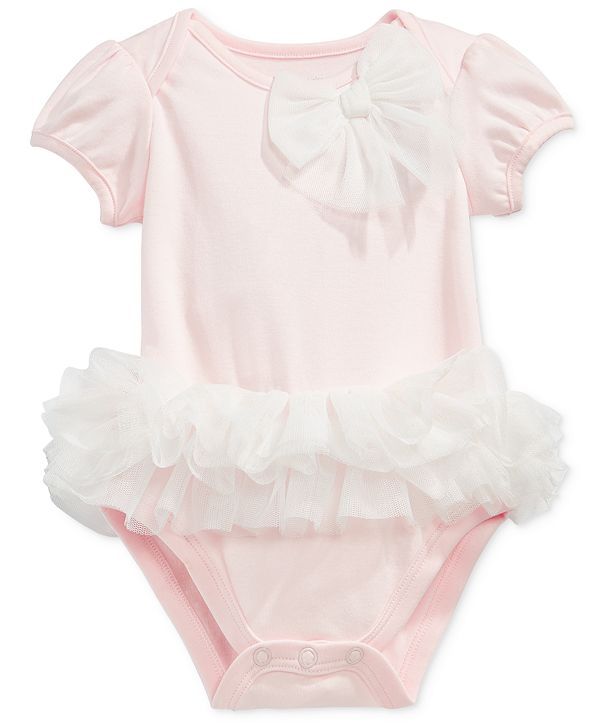First Impressions Baby Girls Tulle Tutu Bodysuit, Created for Macy's