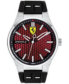 Ferrari Men's Speciale 3H Black Silicone Strap Watch 44mm 0830353
