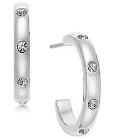 kate spade new york Infinity & Beyond Silver-Tone Small Hoop Earrings