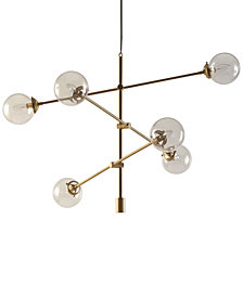 INK+IVY Cyrus Metal & Glass Chandelier
