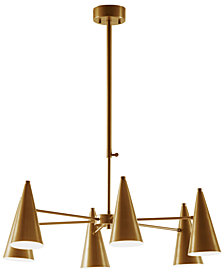 INK+IVY Bellac Antique Brass Chandelier
