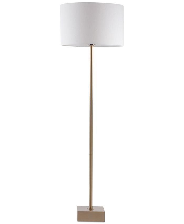 Hampton Hill - Bringham Antique Brass Floor Lamp
