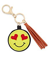 Inspired Life Heart Eyes Emoji and Tassel Keychain