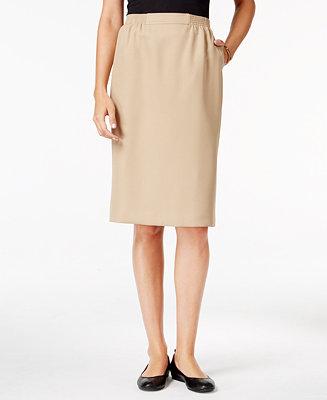 Alfred dunner petite classic pencil skirt skirts for Alfred dunner wedding dresses