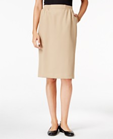 Alfred Dunner Petite Classic Pull-On Skirt