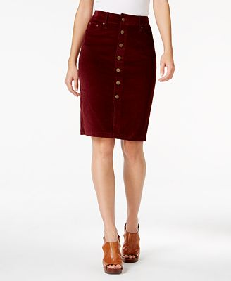 JAG Corduroy Pencil Skirt