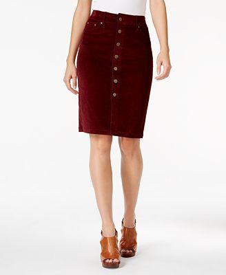 JAG Corduroy Pencil Skirt