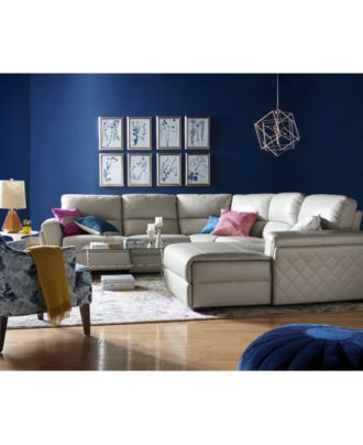 Jessi Leather Power Reclining Sectional Sofa Collection