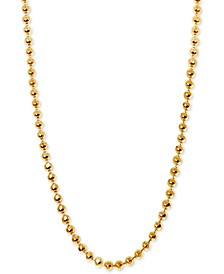 "Beaded 16"" Chain Necklace in 14k Gold"