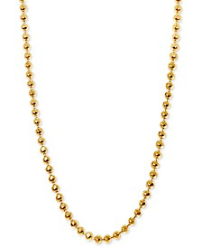 "Alex Woo Beaded 16"" Chain Necklace in 14k Gold"