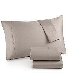 Westport Solid Organic 4-Pc. Full Sheet Set, 500 Thread Count GOTS Certified Cotton