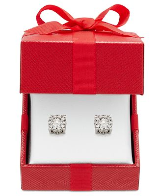 Diamond Stud Earrings 1 3 ct t w in 14k Gold Rose Gold or