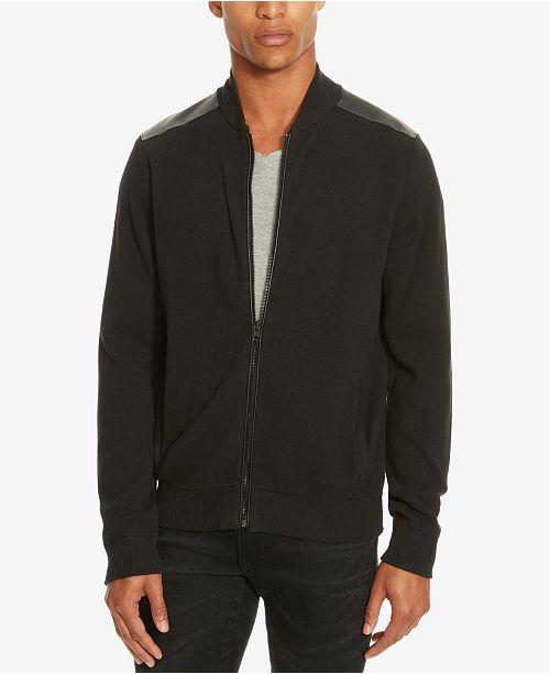 Kenneth Cole New York Kenneth Cole.Mixed-Media Sweater-Jacket