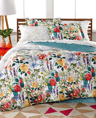Leslie 8 Pc Reversible Bedding Ensemble Only At Macy S
