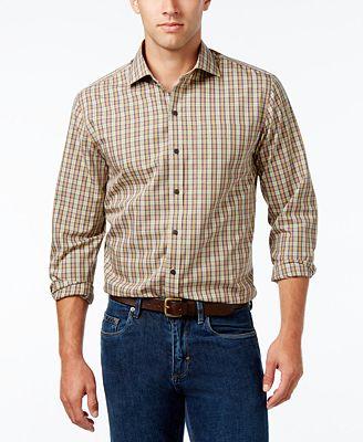 Cutter & Buck Men's Skyler Classic-Fit Plaid Poplin Shirt